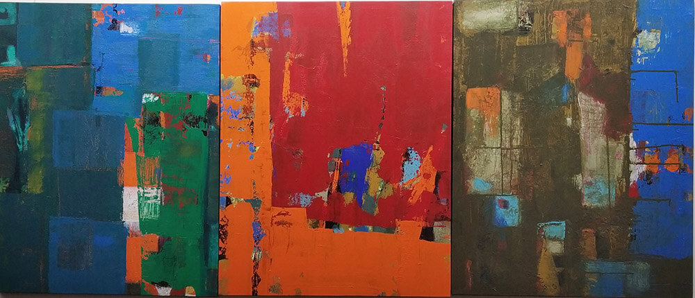 Abstract Life 3 Painting Set