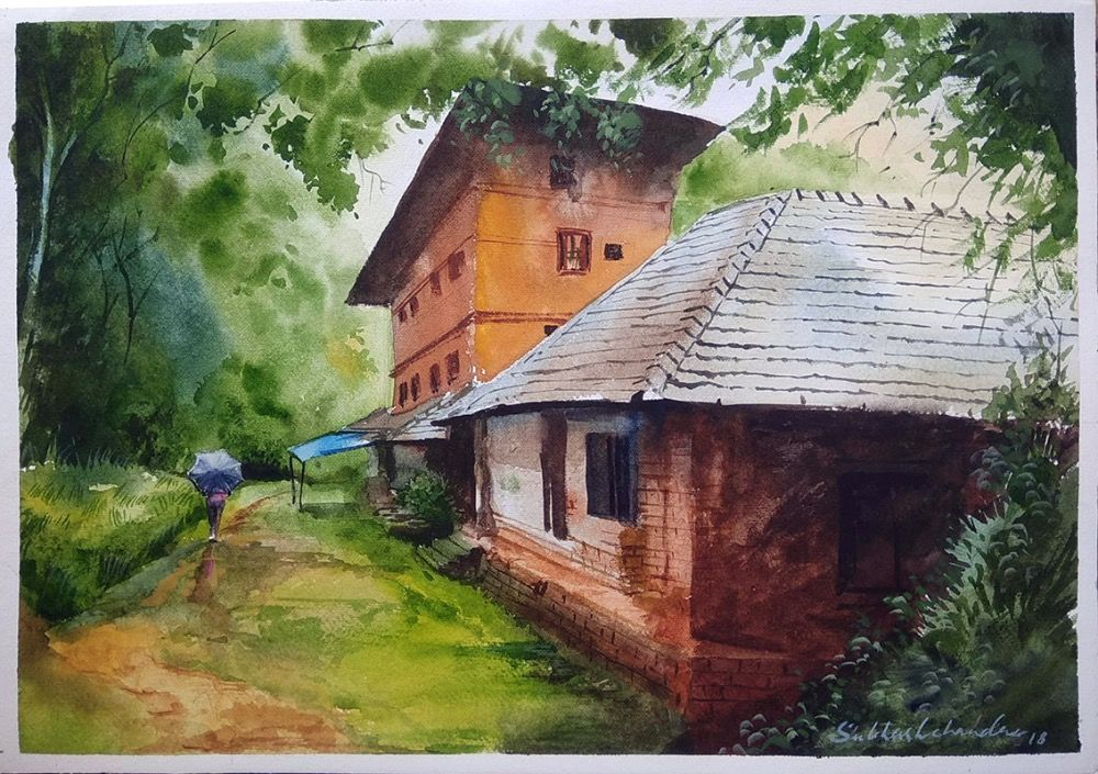 Rural India  Painting 4