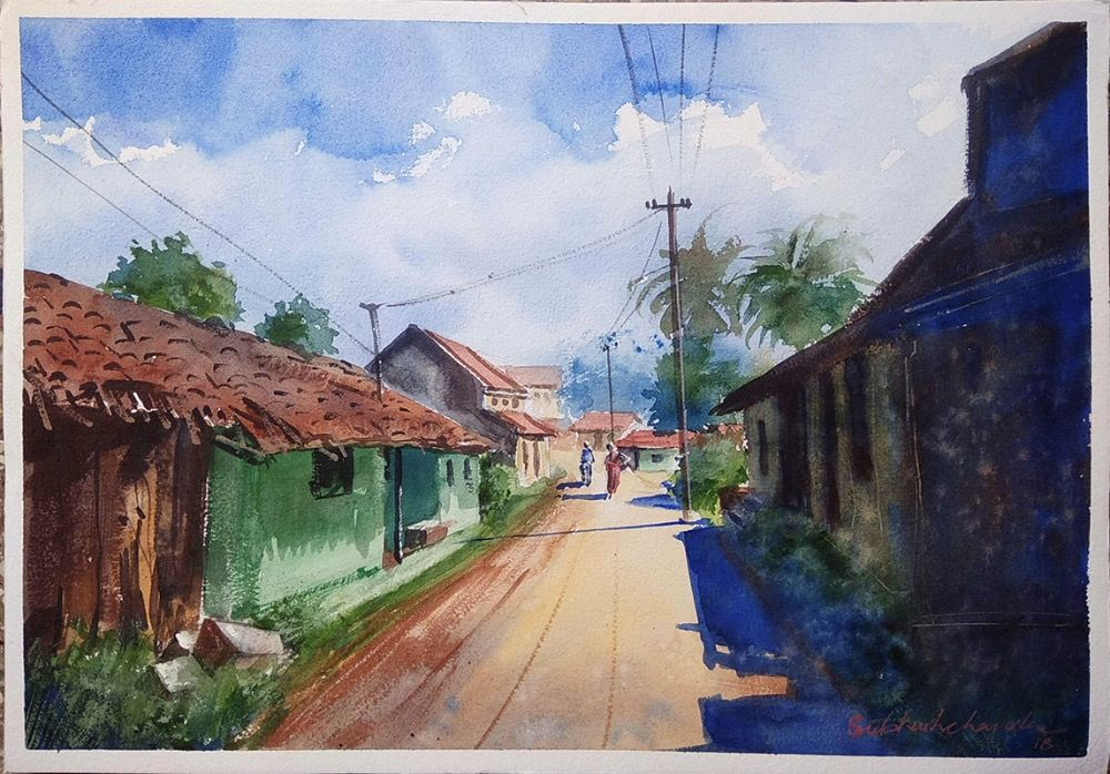 Rural India  Painting  5