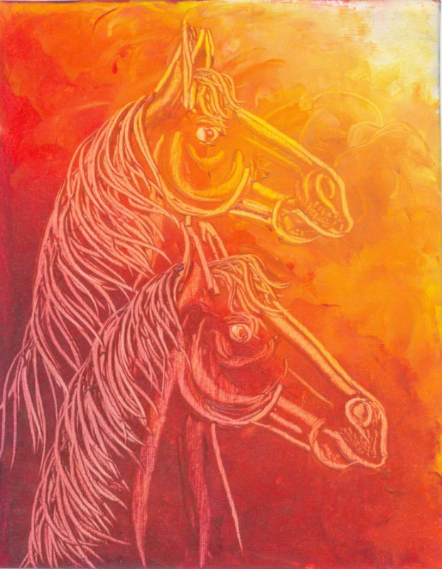 Contemporary Horse painting 3