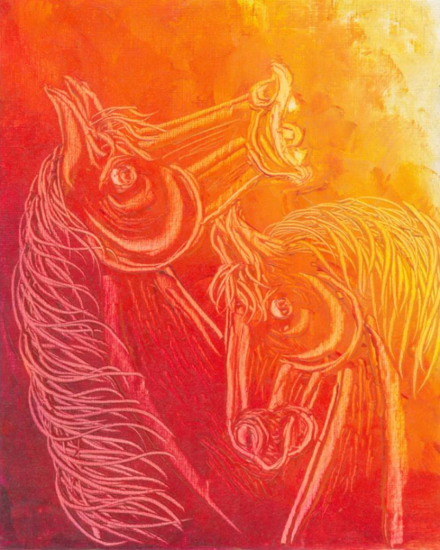Contemporary Horse painting 7