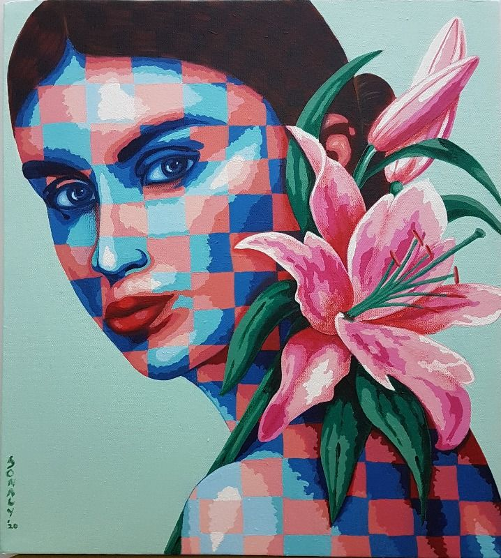 Lady and Lilies