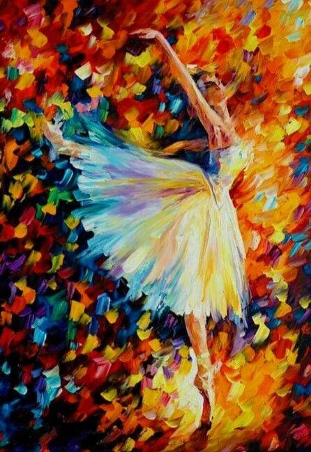 Abstract Dancing Ballerina 002