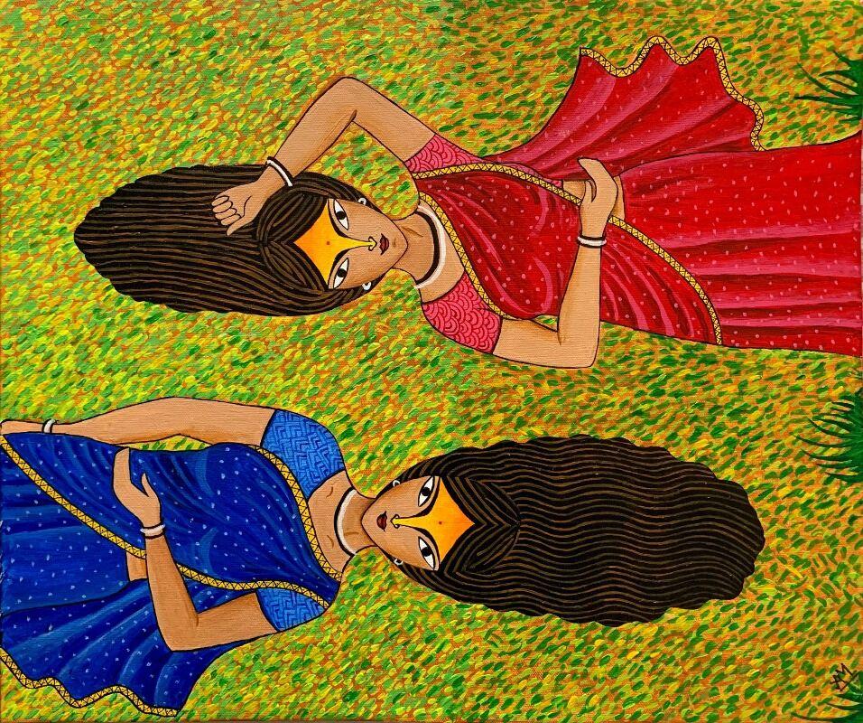 Indian Women on Grass