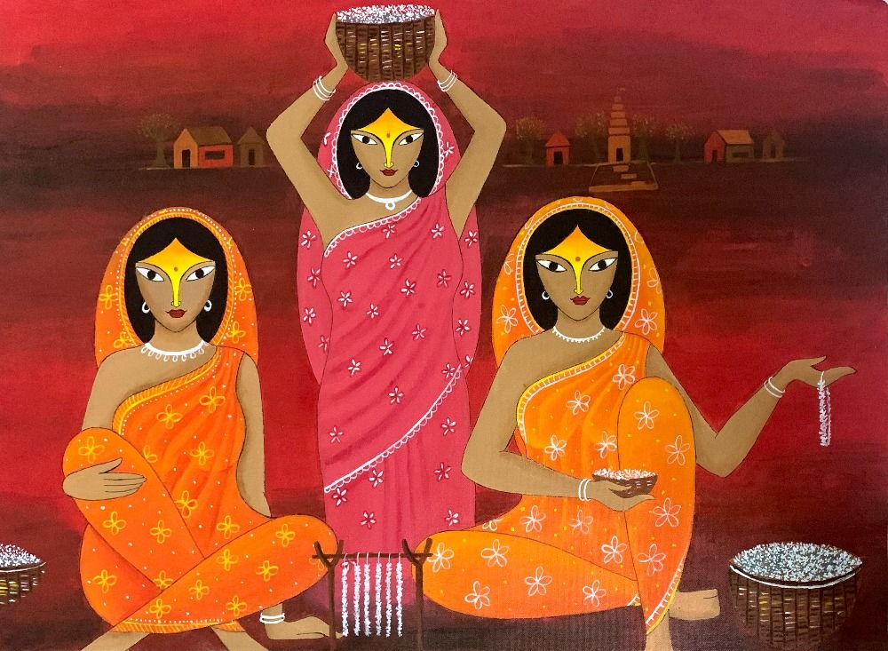 The Indian Flower Girls