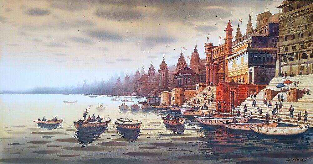 Banaras Ghat View 2