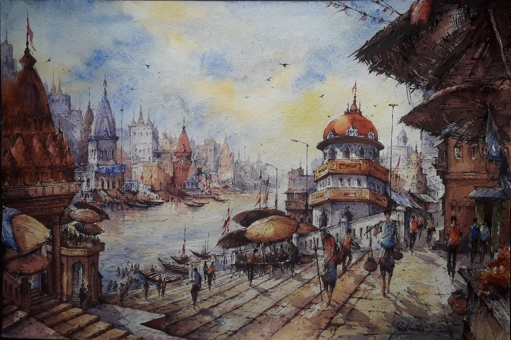 banaras watercolor series 2
