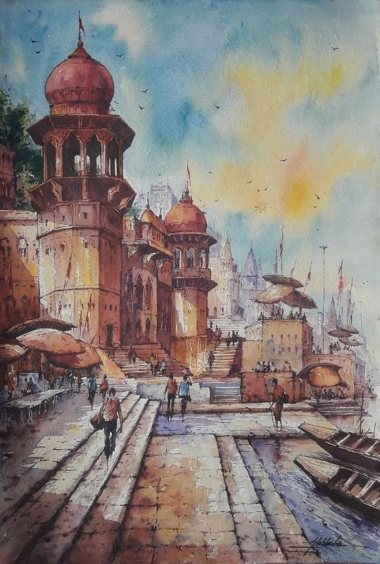 Benaras ghat series 7