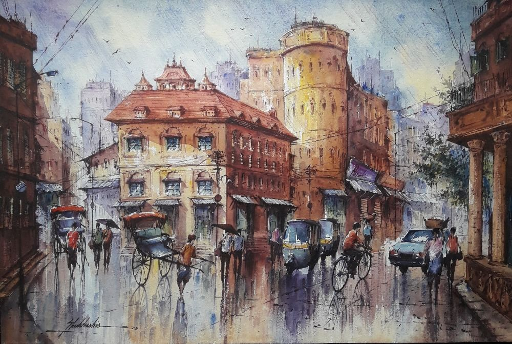 cityscape watercolor series 5