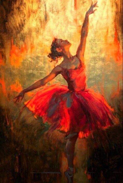 Abstract Dancing Ballerina