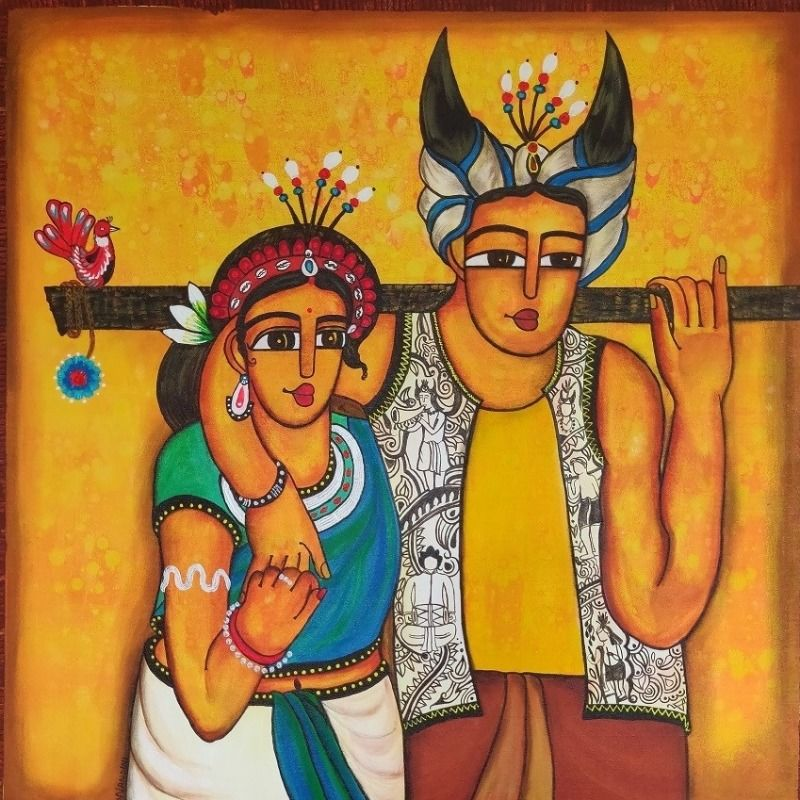 folk dancer couple