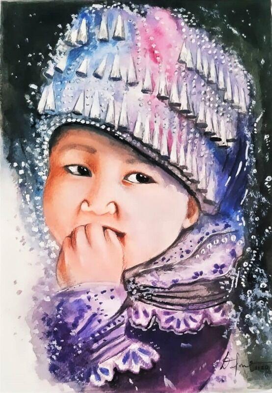 Asian Baby Art