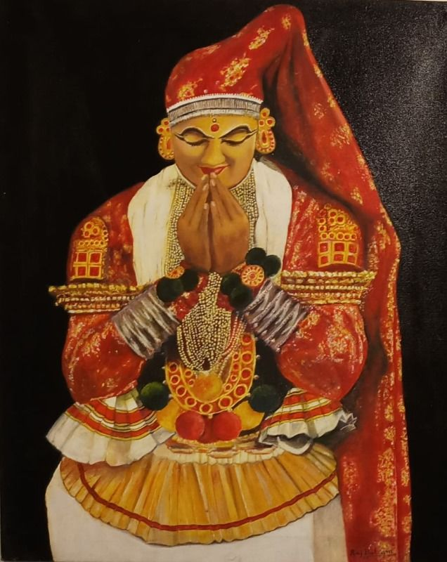 kathakali female dancer