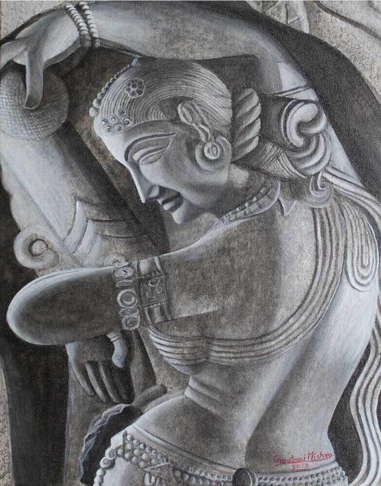 Khajuraho Lady Painting