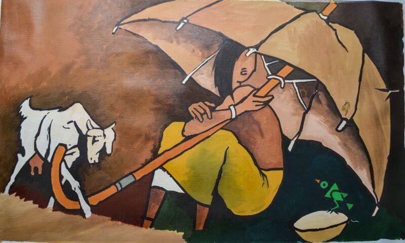 Canvas Painting THE UMBRELLA