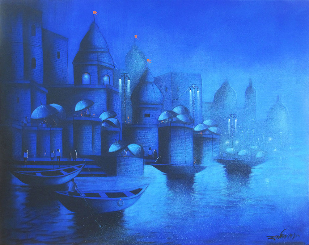 Moonlight in Banaras