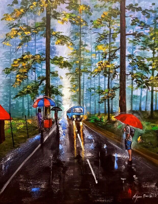 Rainy day in uttrakhand