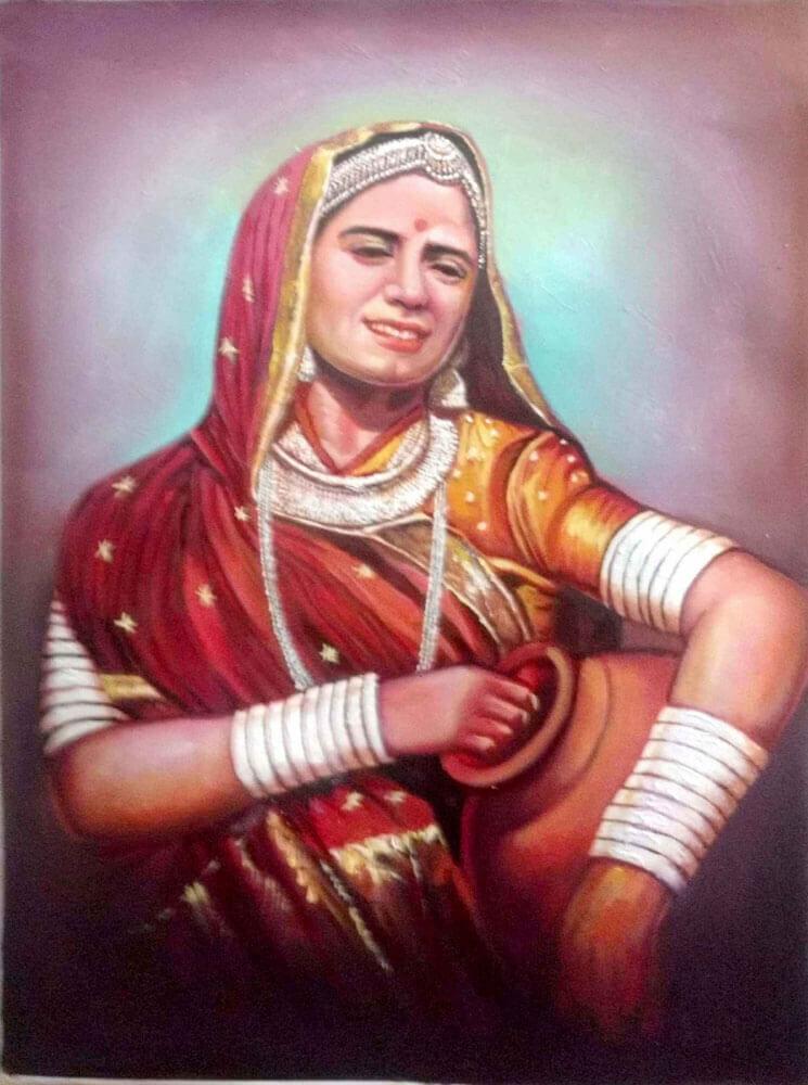 Rajasthani lady