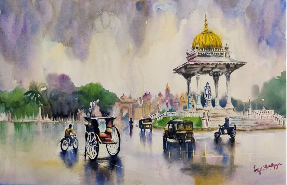 Rainy day at Mysore