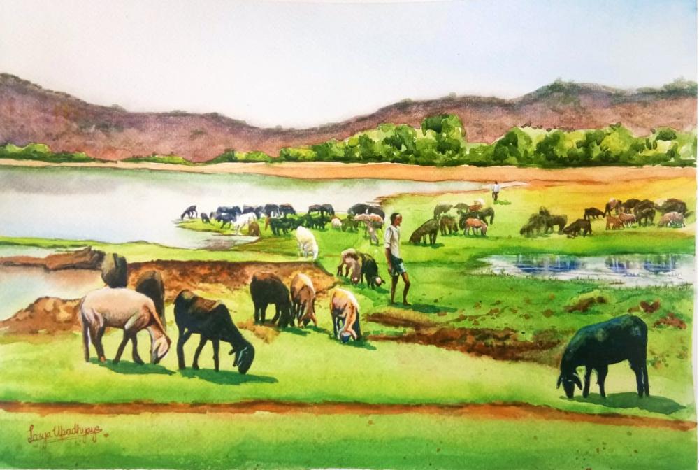 Chikmagalur landscape Breakfast time