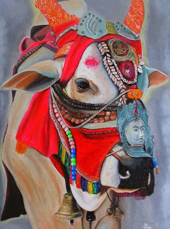Tibetan Decor Cow