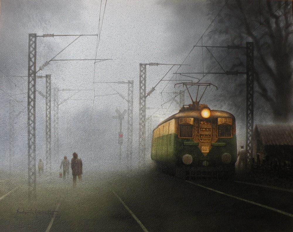 train in foggy morning 3