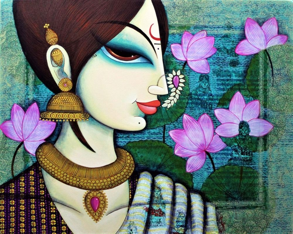 Beauty with lotus