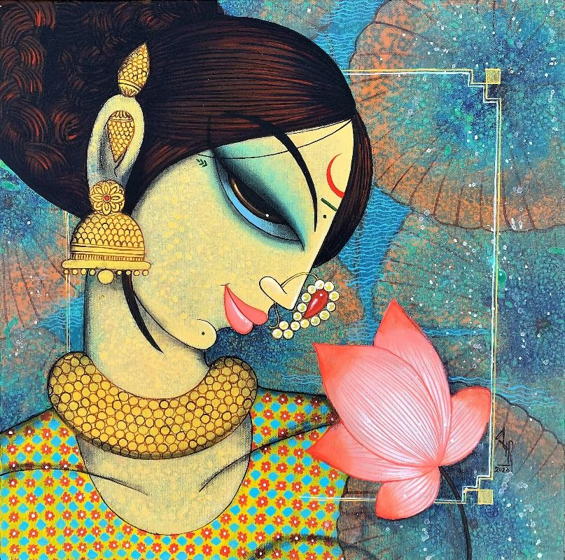 face with lotus
