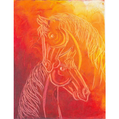 Contemporary Horse painting 12