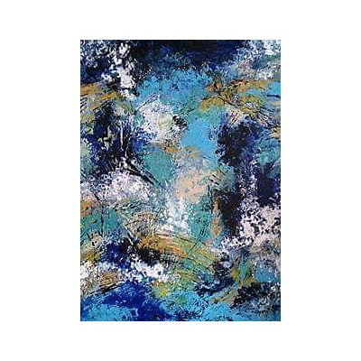 Abstract Blue Winter