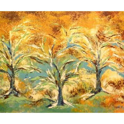 Abstract Golden Breeze