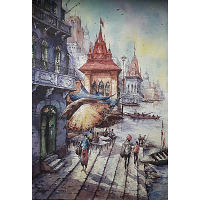 banaras watercolor series 4