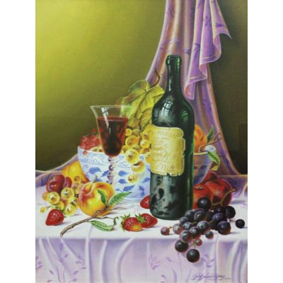 Grapes with wine