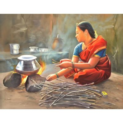 Cooking style in Village