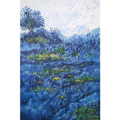Flower Painting - Blue Morning