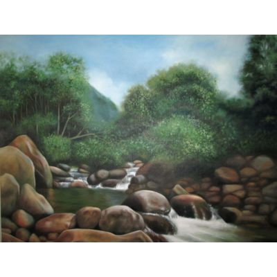 Rocky waterwayed Landscape