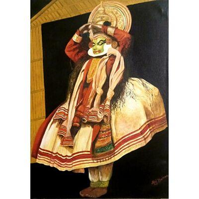 kathakali male dancer