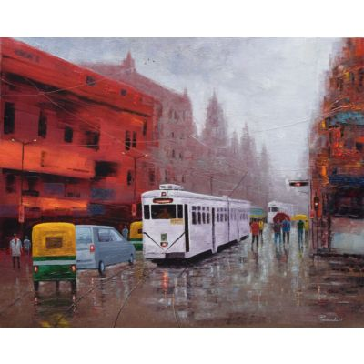 Kolkata in a rainy day