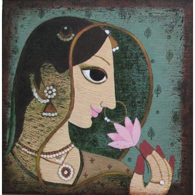 Lady with Lotus 2