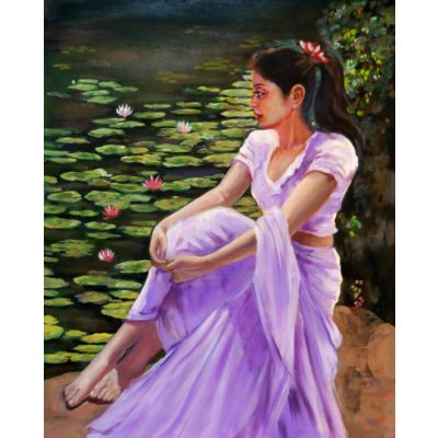 Girl near Lotus Pond