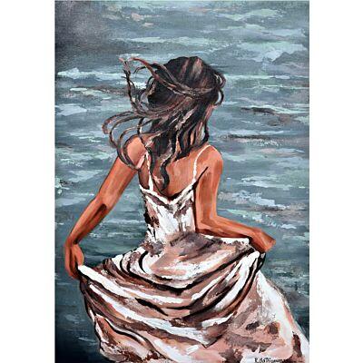 Serene Beach girl