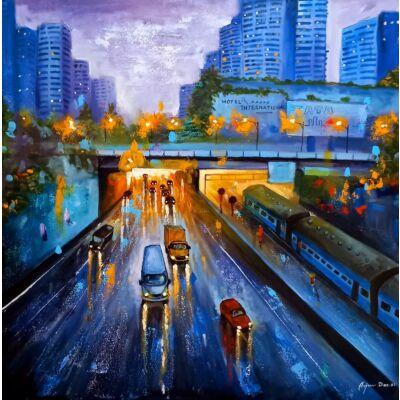 Rainy day in city