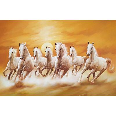 Seven horses running