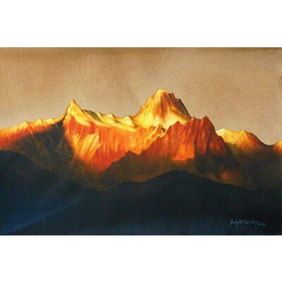 sunrise over kunchenjunga