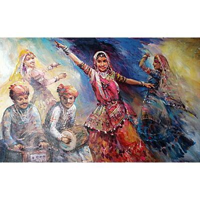 The Rajasthani folk dancer