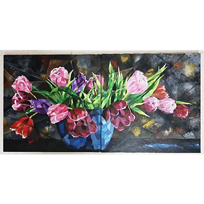 TULIP TOWN ON SPLIT CANVAS