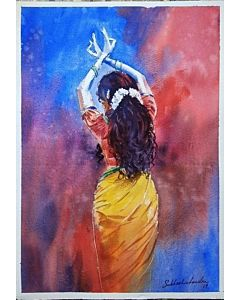 watercolor painting,Portrait Painting that will take centre stage of your space