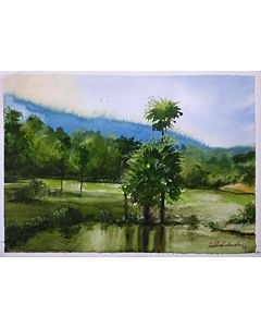 scenery art,Stunning nature art painting will suitably fit your living room!
