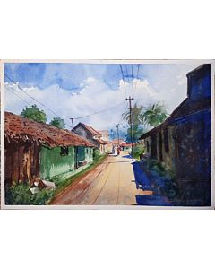 watercolor painting,watercolor scenery painting,scenery  painting that transform living room