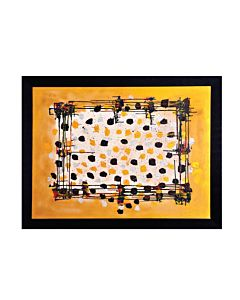 abstract art,The abstract art on the walls matches the minimalist color palette and adds a warm vibe